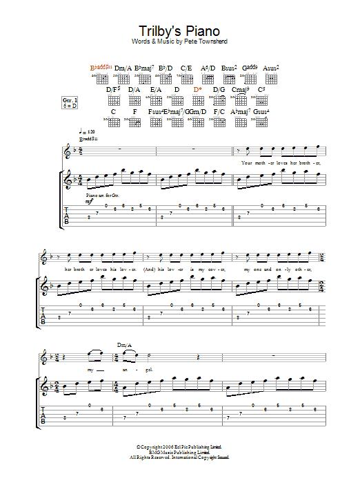 Trilby's Piano (Guitar Tab)