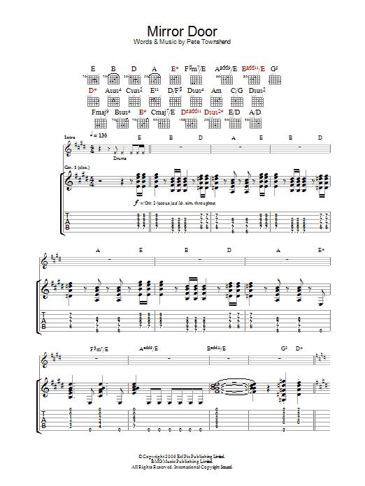 Mirror Door (Guitar Tab)