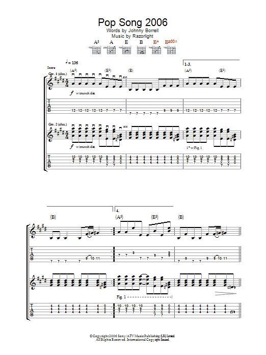 Pop Song 2006 (Guitar Tab)