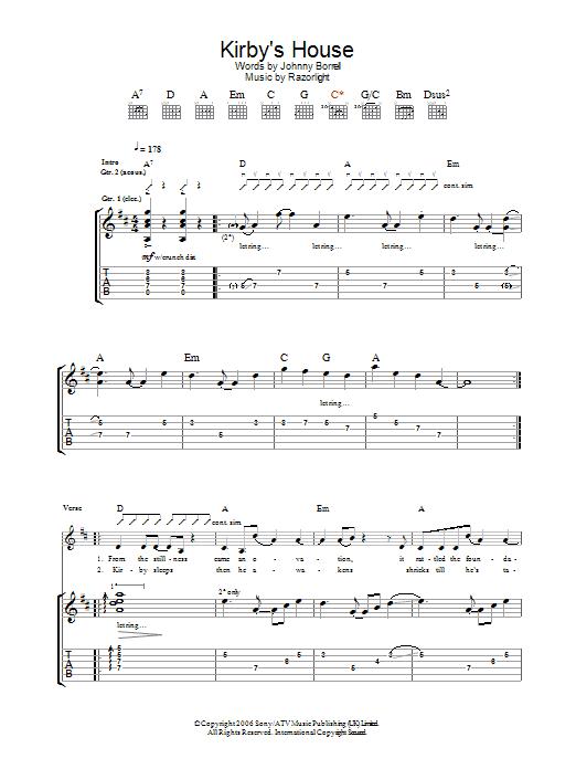 Kirby's House (Guitar Tab)