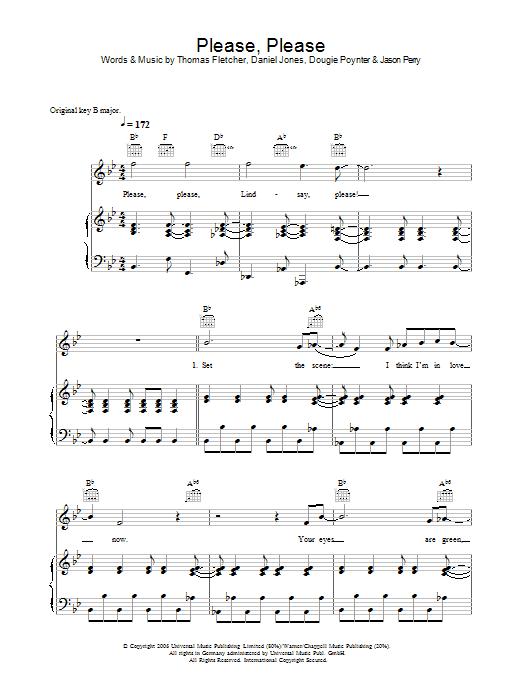 Please, Please Sheet Music