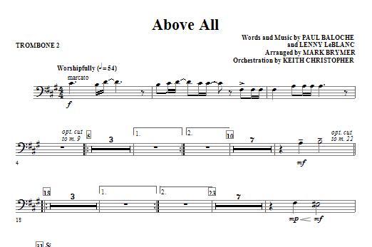 Above All - Trombone 2 Sheet Music