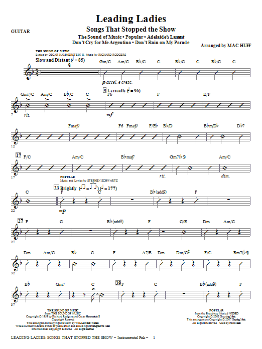 Leading Ladies: Songs That Stopped the Show - Guitar Sheet Music