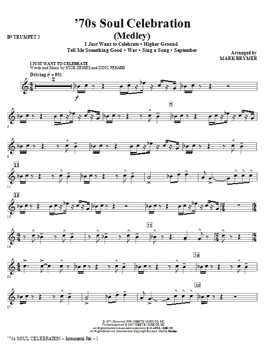 70s Soul Celebration (Medley) - Trumpet 2 Sheet Music