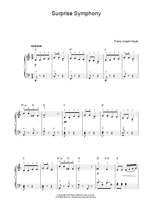 The Surprise Symphony Sheet Music