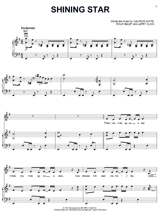 Shining Star Sheet Music