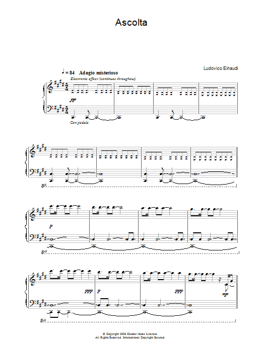 Ascolta Sheet Music