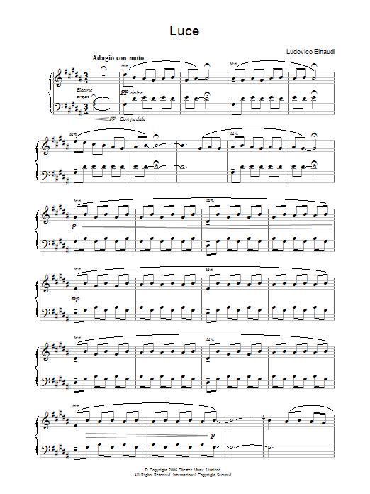 Luce (Piano Solo)