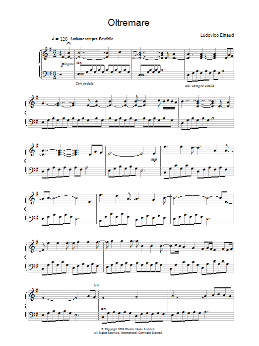 Oltremare (Piano Solo)