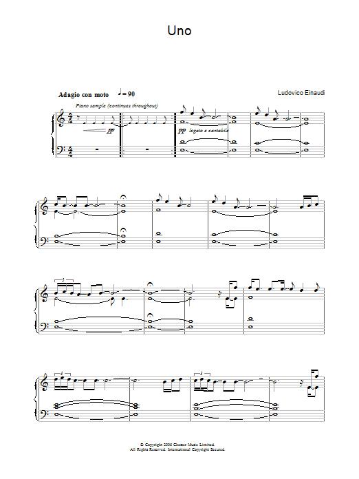 Uno (Piano Solo)