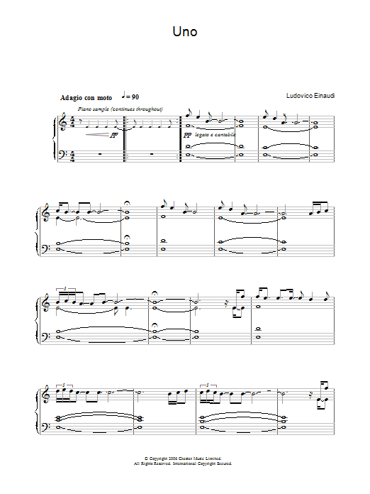 Uno Sheet Music