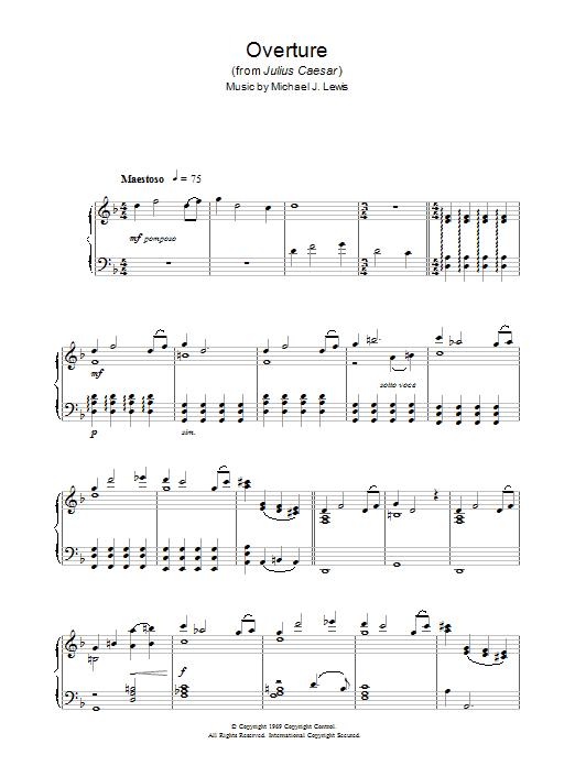 Overture (from Julius Caesar) (Piano Solo)