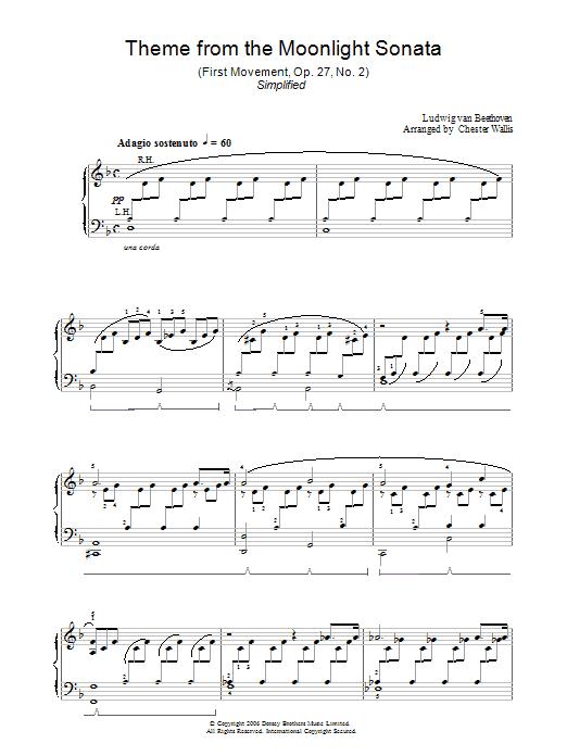 Moonlight Sonata, 1st Movement, Op.27, No.2 Sheet Music
