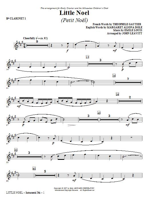 Little Noel (Petit Noel) - Bb Clarinet 1 Sheet Music