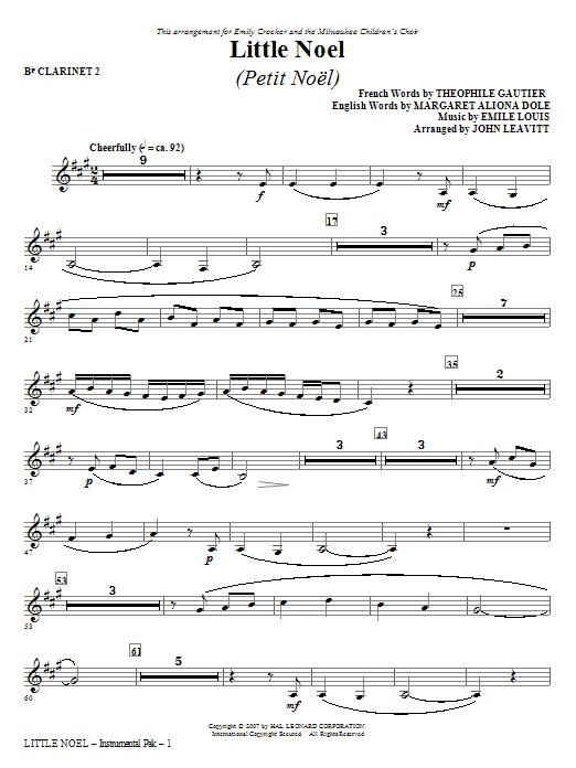 Little Noel (Petit Noel) - Bb Clarinet 2 Sheet Music