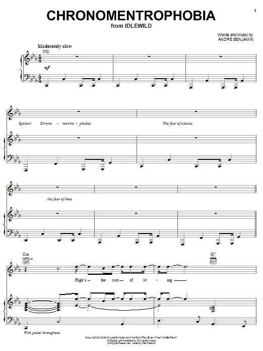 Chronomentrophobia (Piano, Vocal & Guitar (Right-Hand Melody))