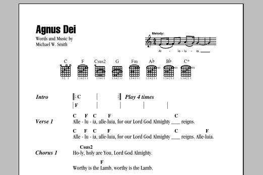 Agnus Dei (Guitar Chords/Lyrics)
