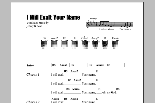 I Will Exalt Your Name Sheet Music