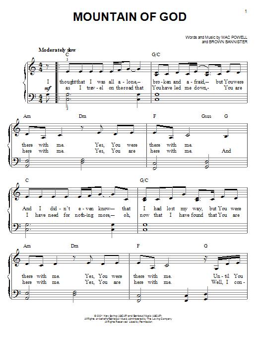 Mountain of God (Easy Piano)