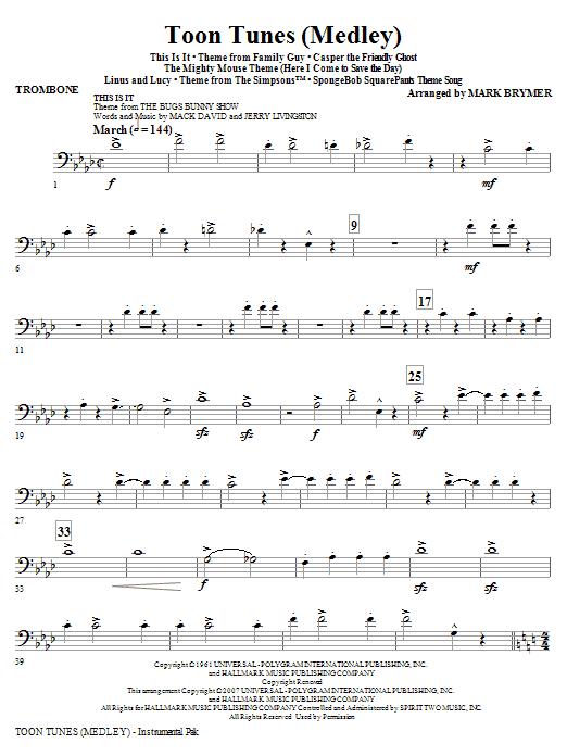 Toon Tunes - Trombone Sheet Music