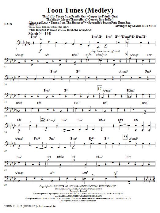 Toon Tunes - Bass (Choir Instrumental Pak)