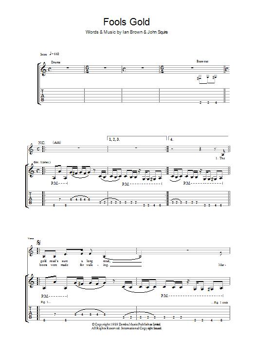 Fool's Gold (Guitar Tab)
