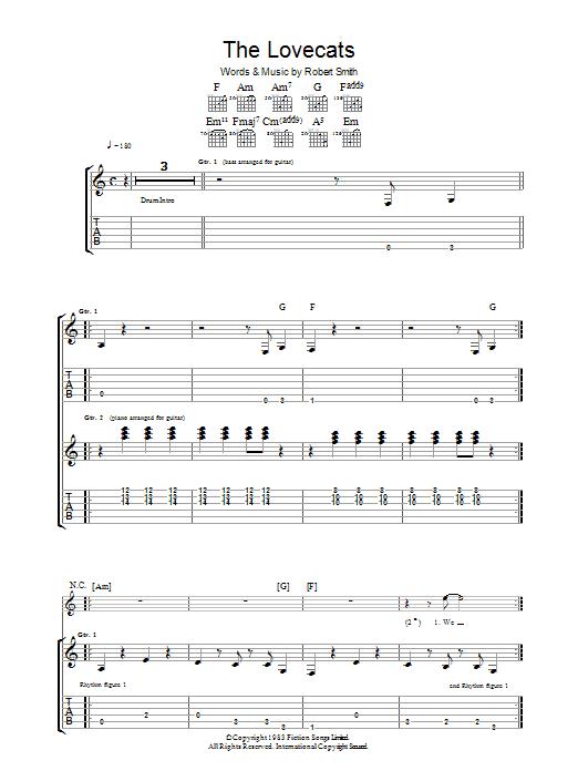 The Lovecats Sheet Music