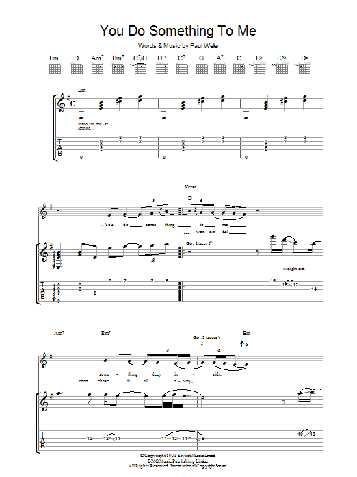 You Do Something To Me (Guitar Tab)