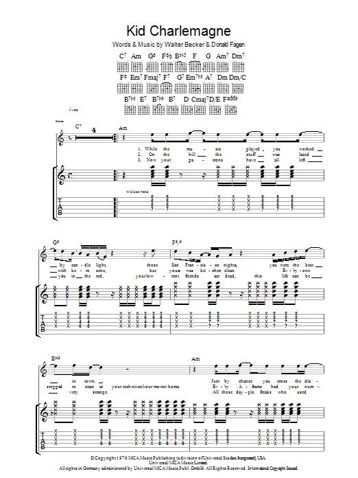 Kid Charlemagne (Guitar Tab)
