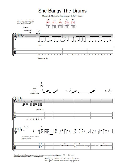 She Bangs The Drums (Guitar Tab)
