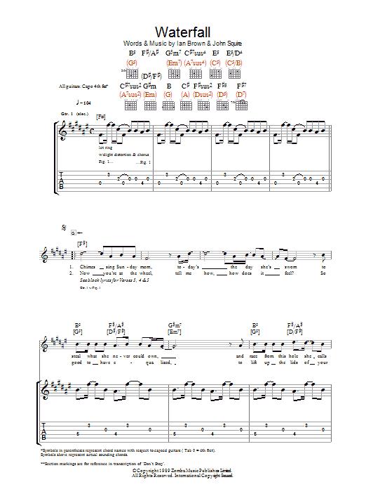 Waterfall (Guitar Tab)