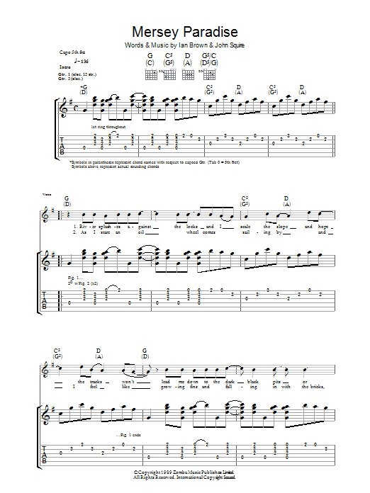 Mersey Paradise (Guitar Tab)