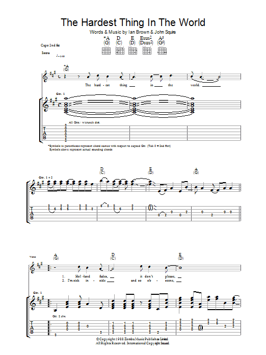 The Hardest Thing In The World Sheet Music