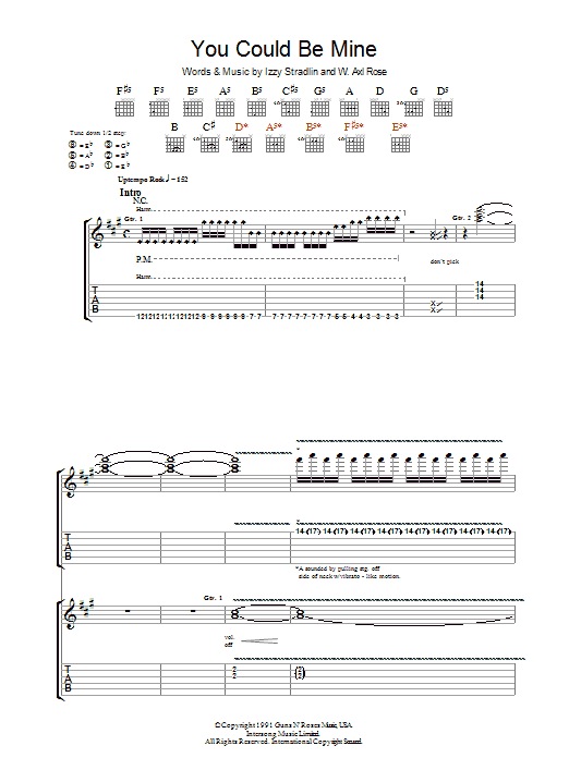 You Could Be Mine Sheet Music