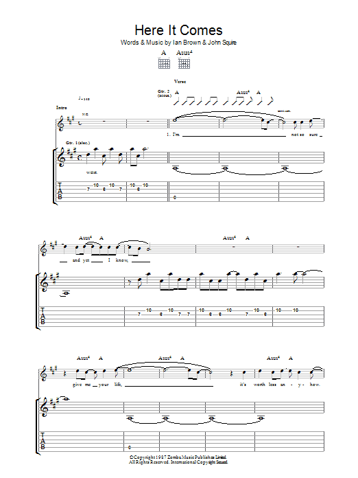 Here It Comes (Guitar Tab)