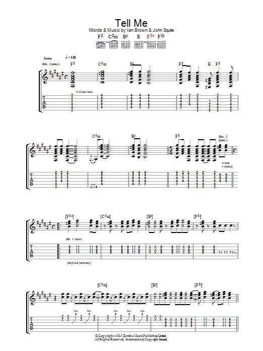 Tell Me (Guitar Tab)