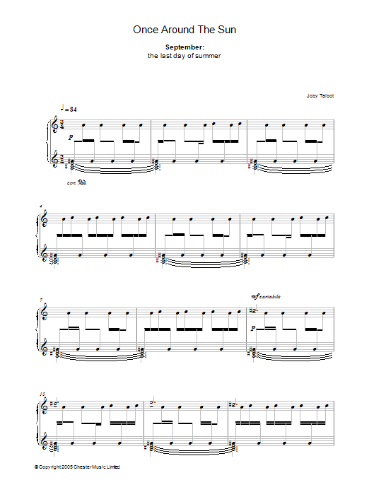September (from Once Around The Sun) Sheet Music