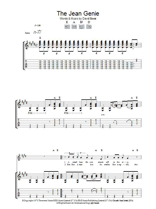 The Jean Genie (Guitar Tab)