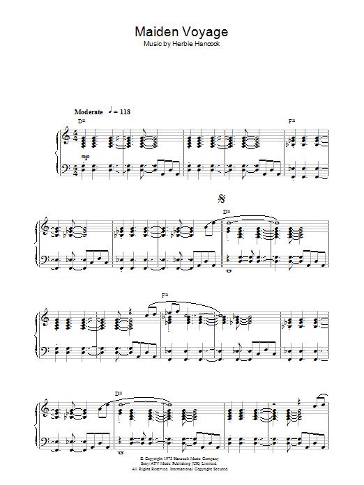 Maiden Voyage Sheet Music