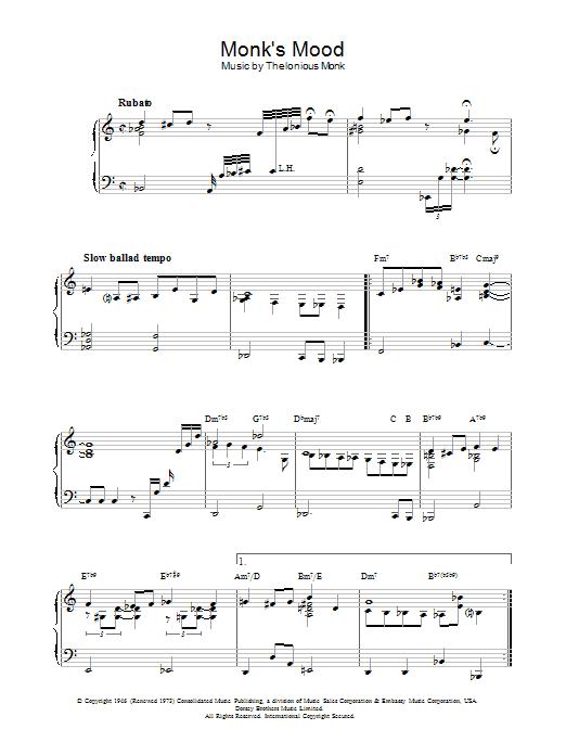 Monk's Mood Sheet Music