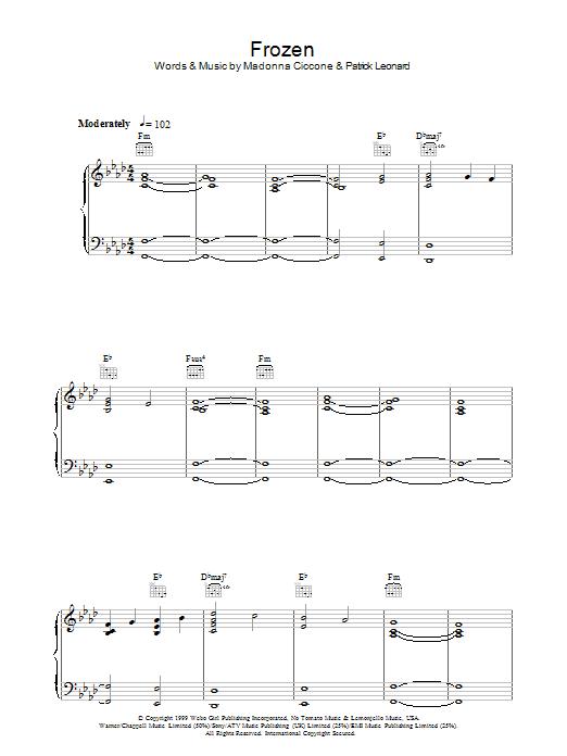 Frozen (Piano, Vocal & Guitar)