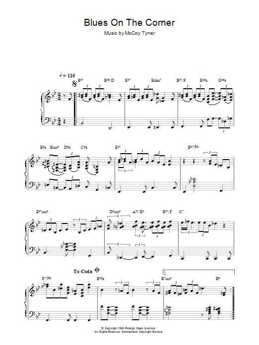 Blues On The Corner (Piano Solo)