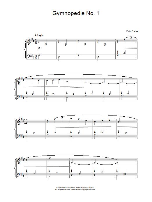 Gymnopedie No. 1 Sheet Music