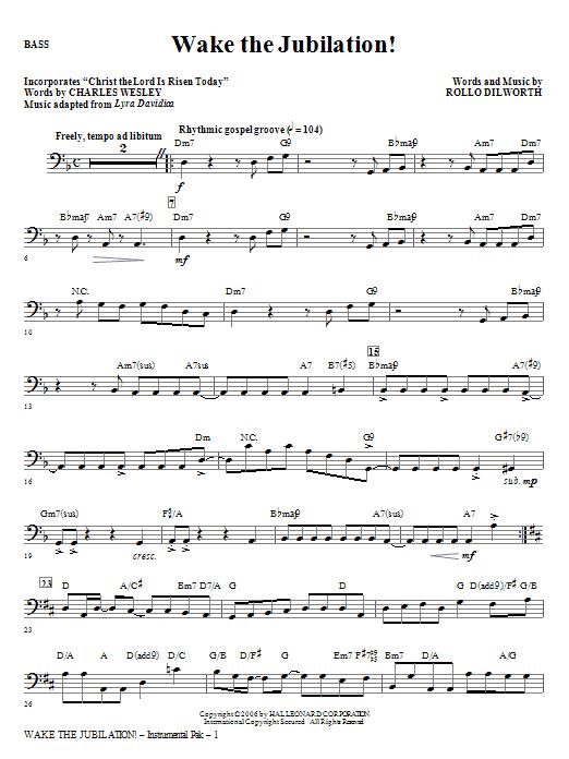 Wake The Jubilation! - Bass (Choir Instrumental Pak)