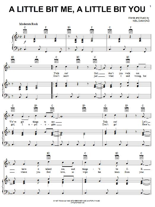A Little Bit Me, A Little Bit You Sheet Music