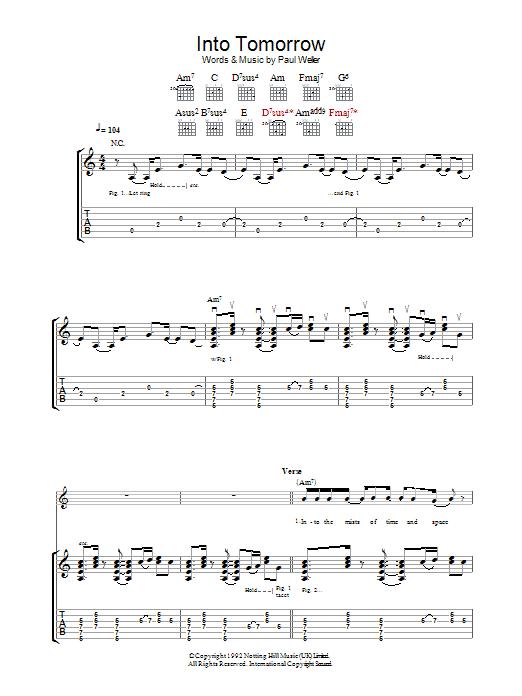 Into Tomorrow (Guitar Tab)