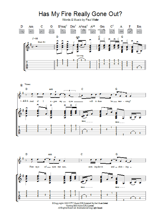 Has My Fire Really Gone Out? Sheet Music