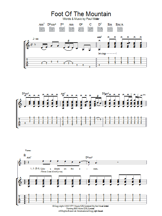 Foot Of The Mountain (Guitar Tab)