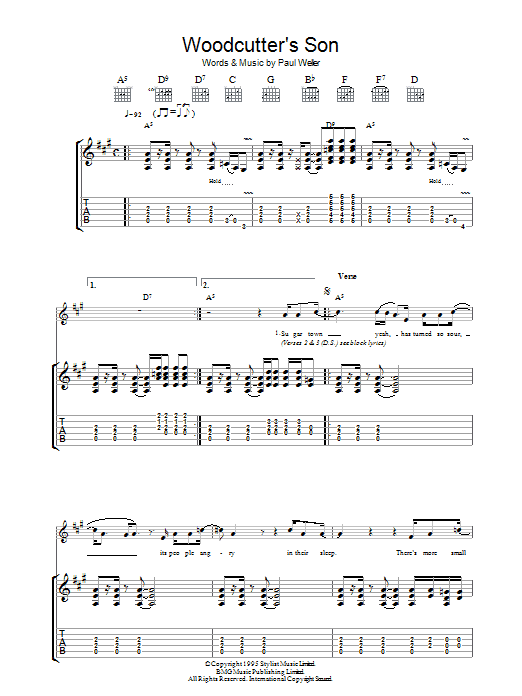 Woodcutter's Son (Guitar Tab)