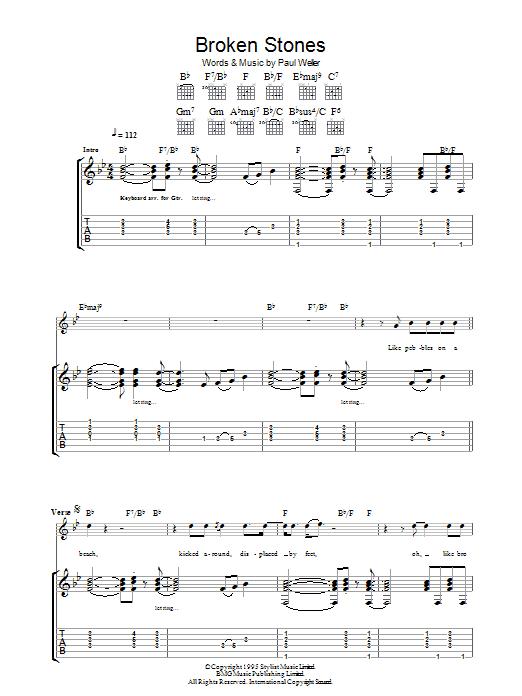 Broken Stones (Guitar Tab)